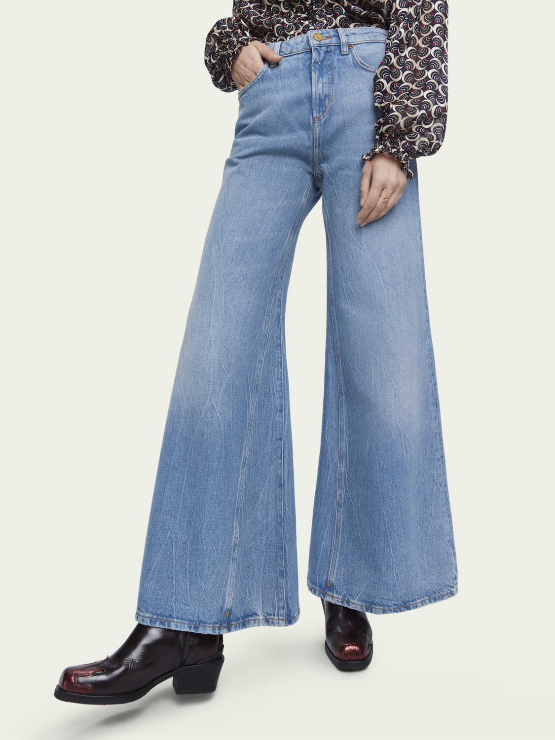 Damen Saisonale Extra Wide Leg Jeans – Blue Butter | High-Rise Jeans