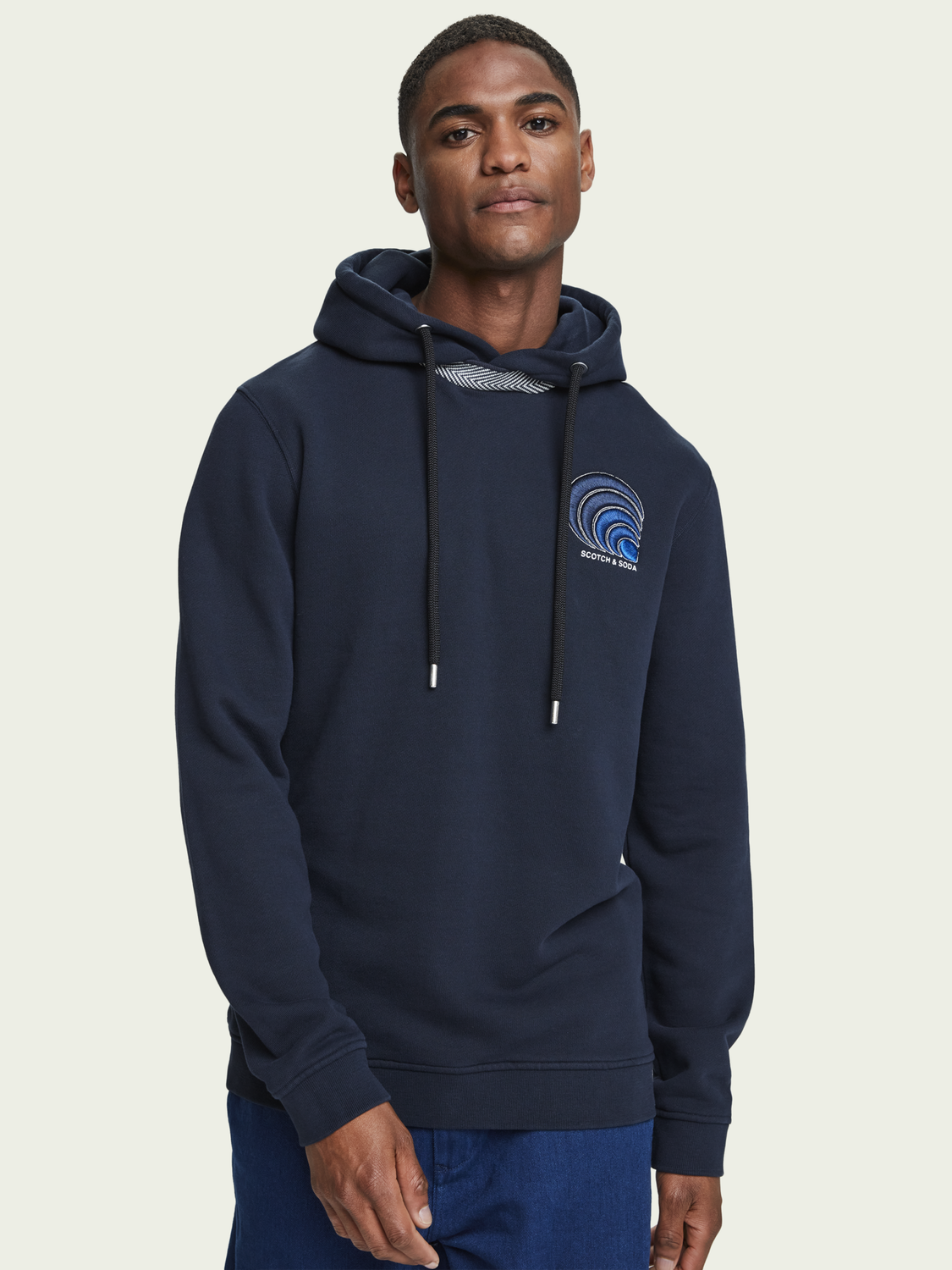 Men 100% cotton embroidered branded hoodie