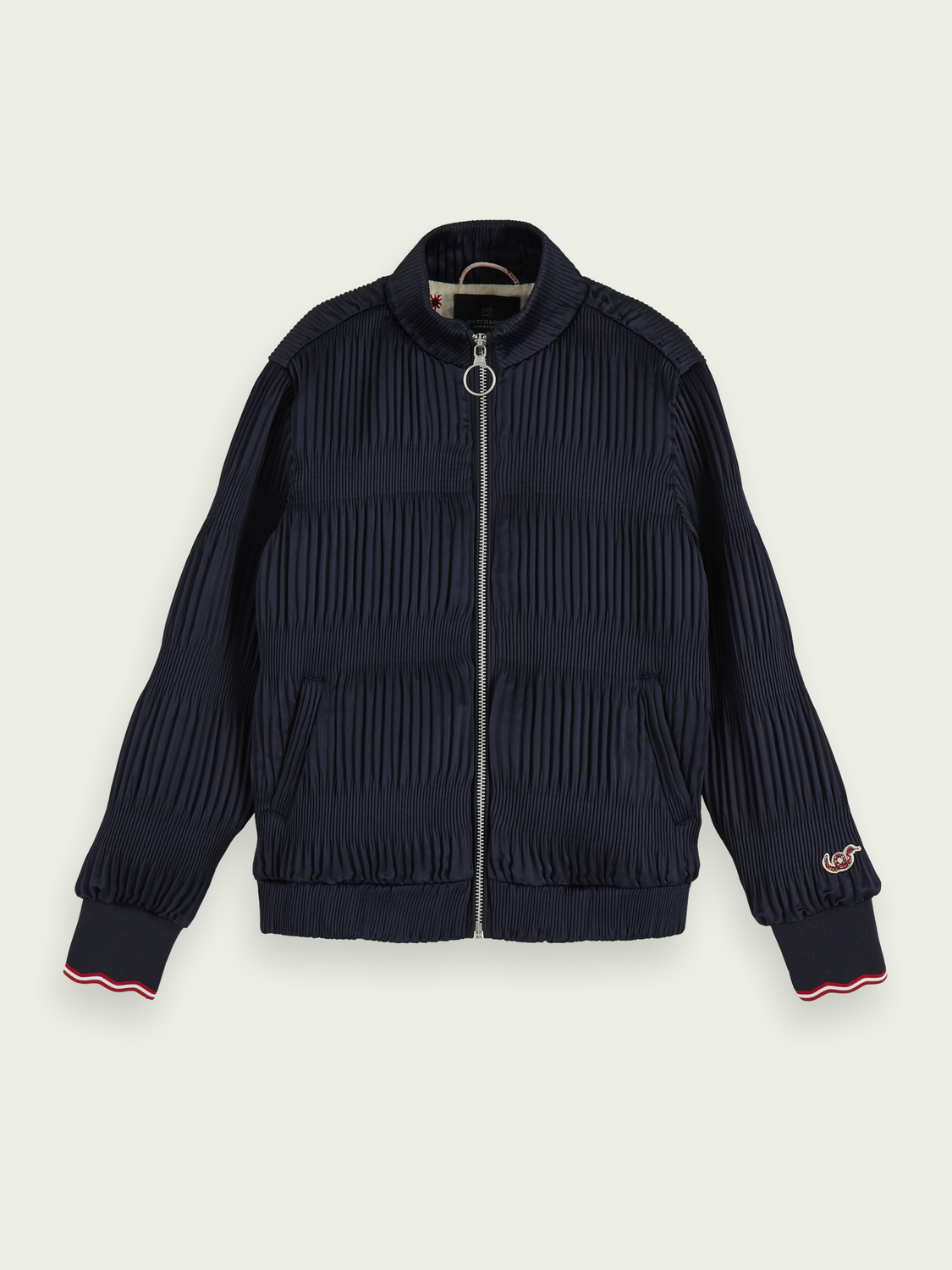 Kids All-over pleated bomber jacket