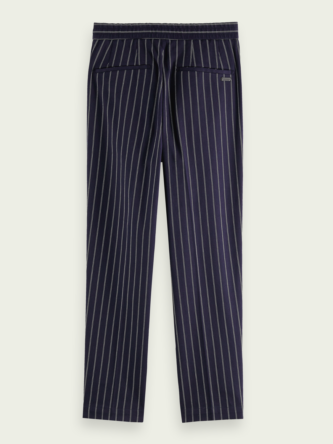 Men Fave - stretch cotton pinstripe trousers