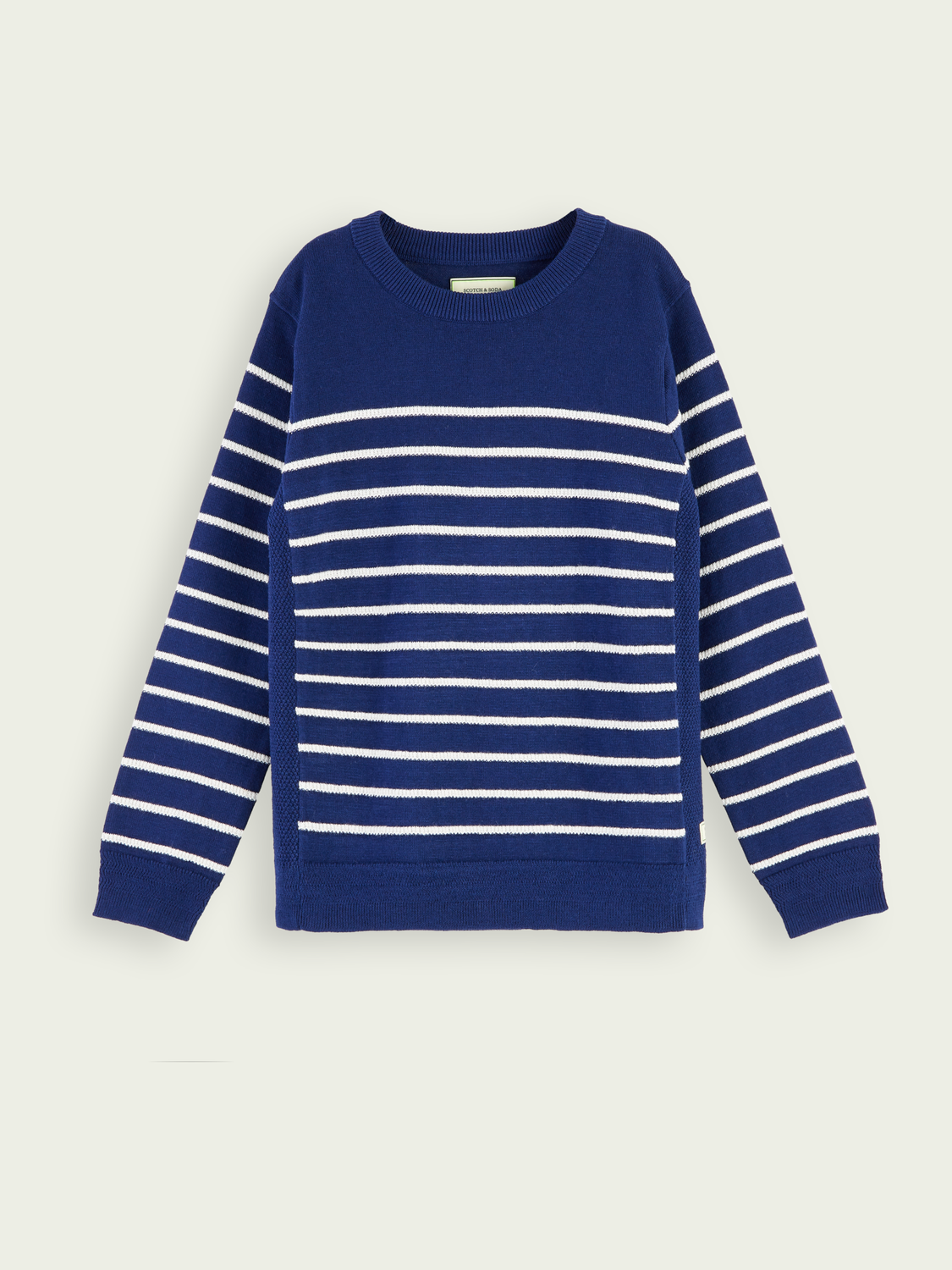 Kids Striped crewneck pullover