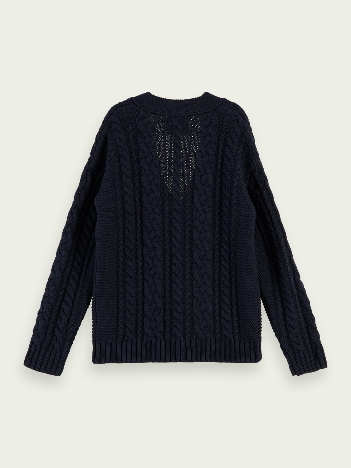 Kids Oversized cable knit cardigan