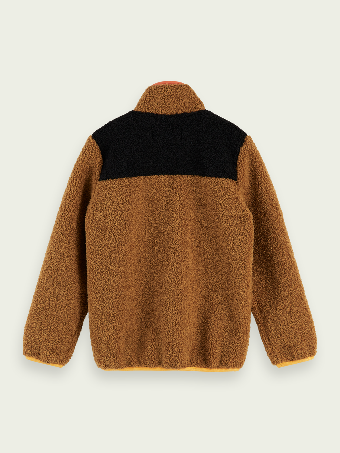 Kids Colour block teddy-nylon jacket