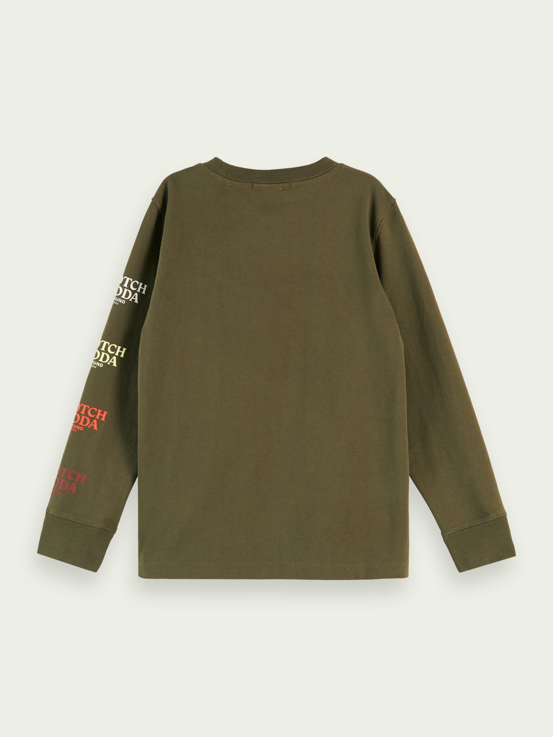 Boys Cotton long sleeve pocket t-shirt