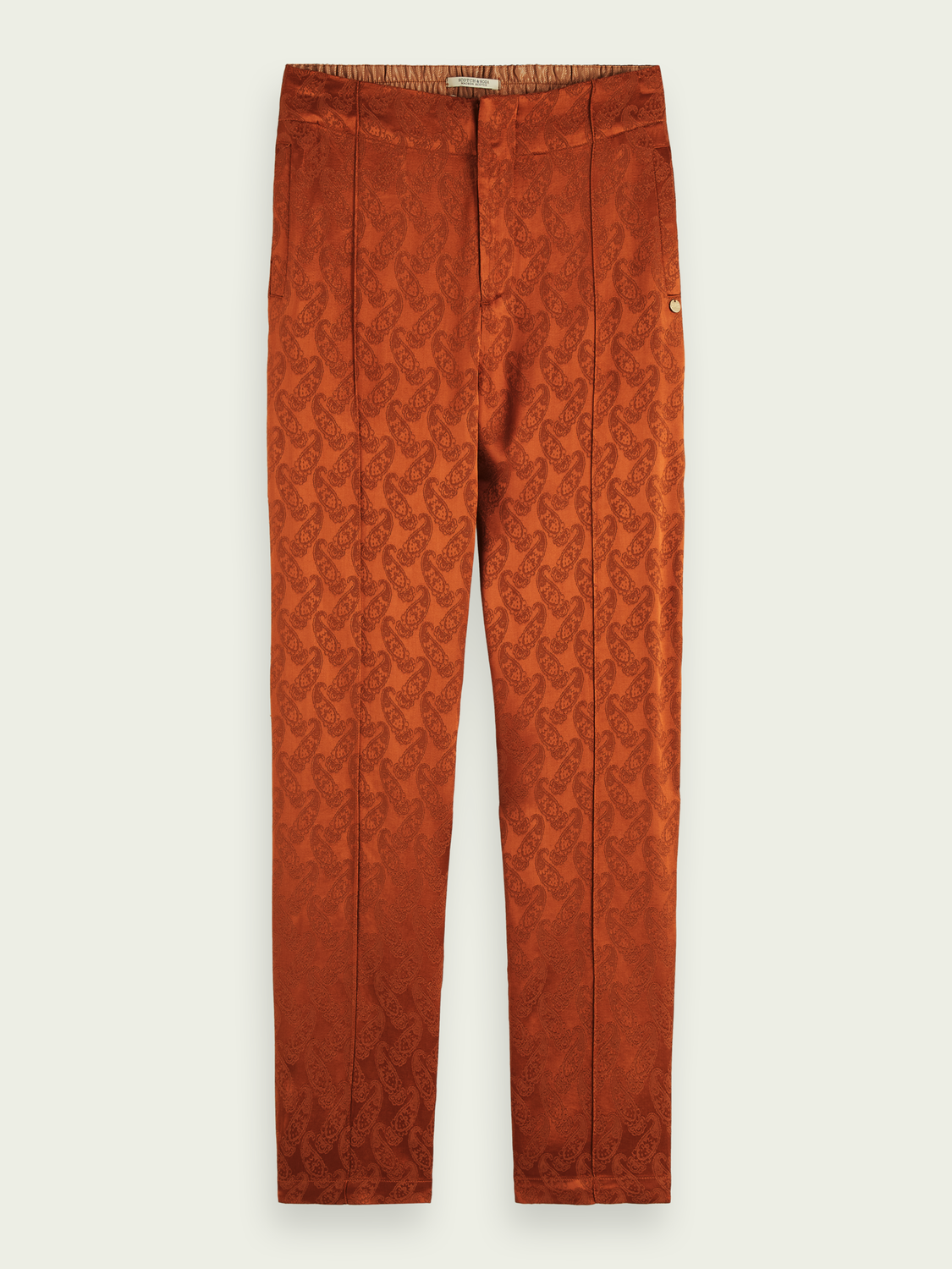 Women Tailored pants with paisley print