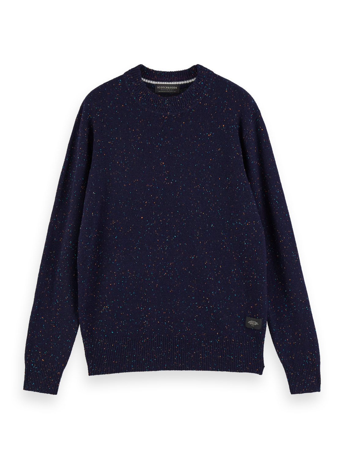 Scotch /& Soda Classic Wool-Blend Crewneck Pull with Neps Camiseta sin Mangas para Hombre