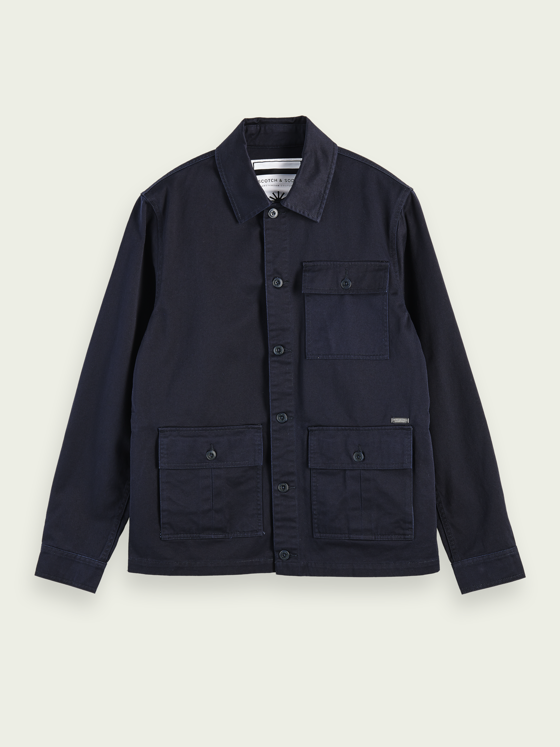 Men 100% cotton structured field jacket