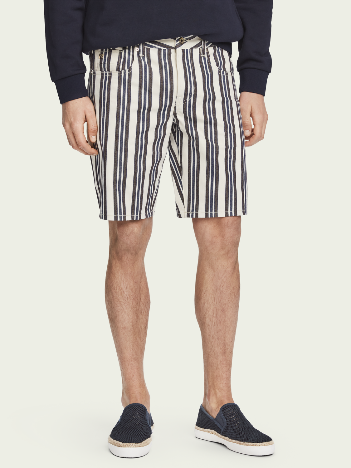 Herren Ralston Shorts – Stripe out | Mid Rise Slim Fit