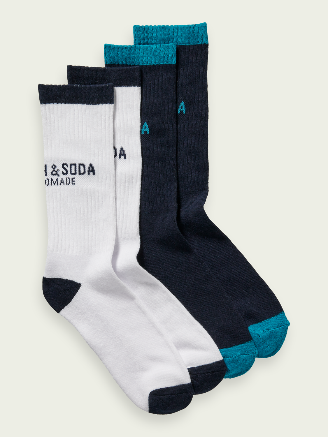 Men 2-pack cotton-blend crew socks