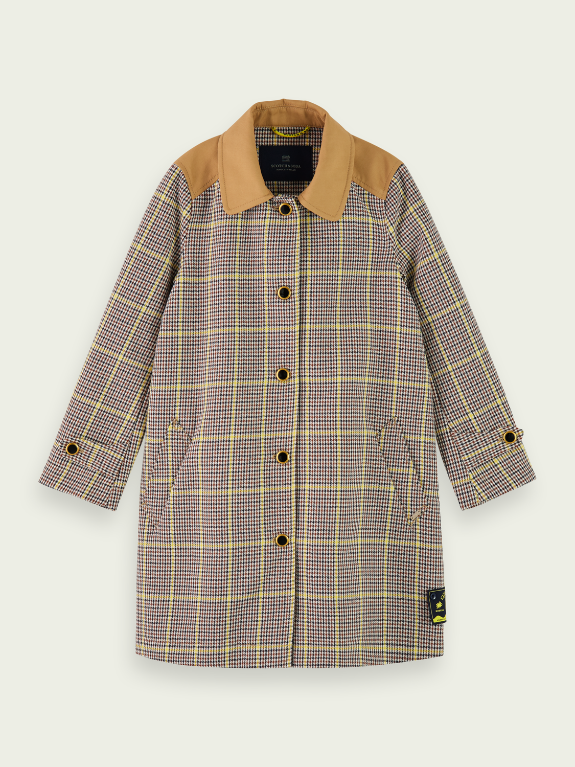 Kids Longer length checked cotton jacket