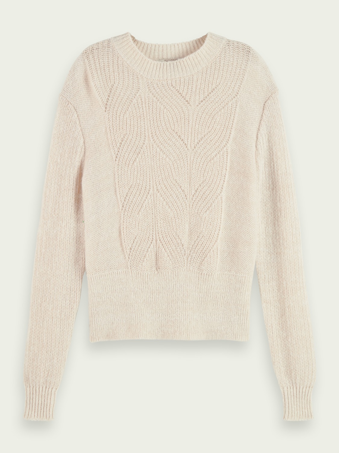 Wool-Alpaca blend cable knit pullover