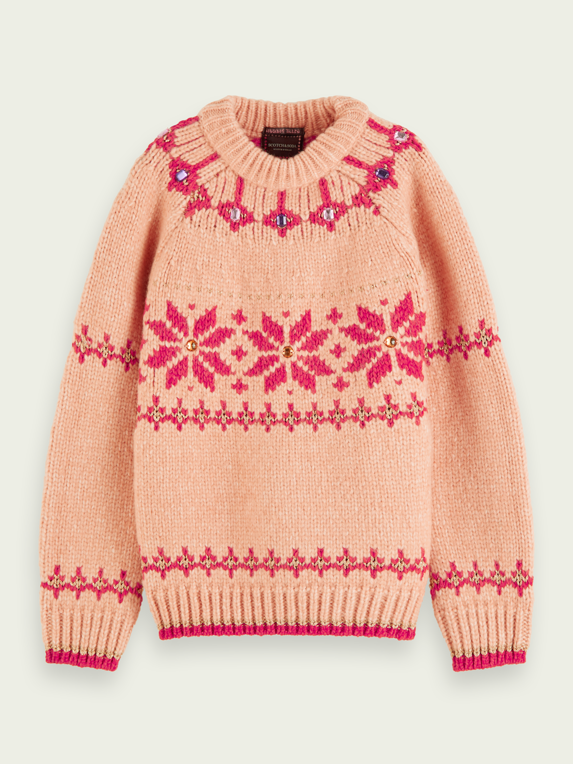 Kids Jewelled knit pullover