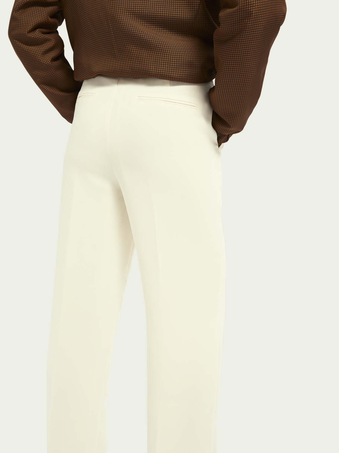 Women Tailored mid-rise wide leg pants