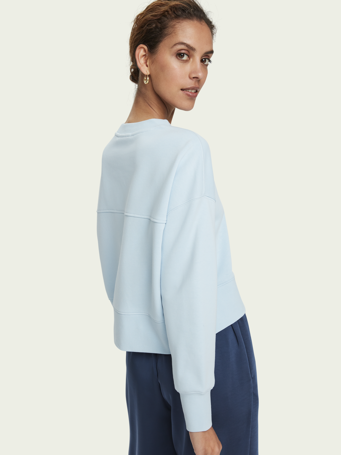 Damen Loose fit cotton-blend crewneck sweatshirt