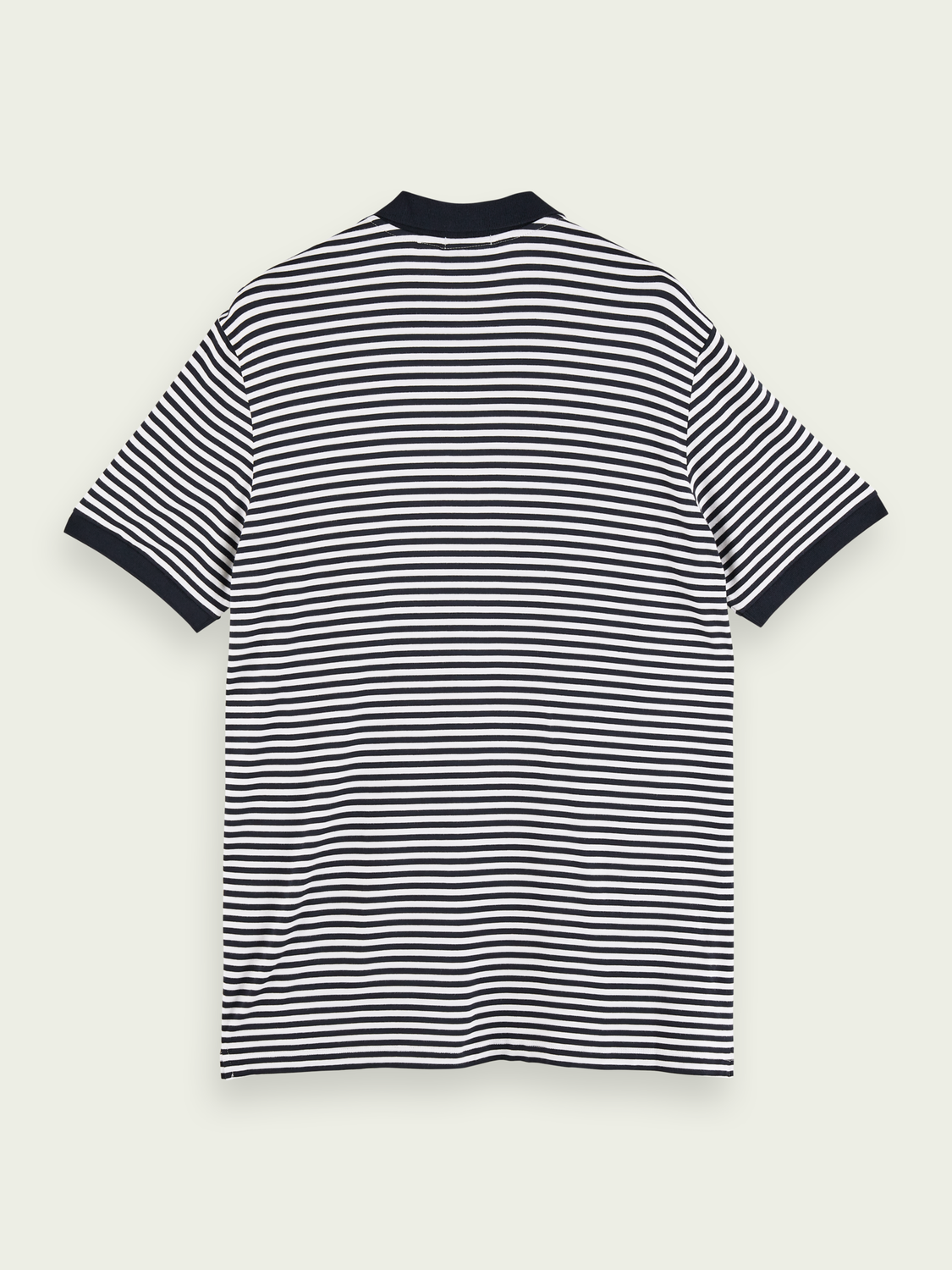 Men Striped bamboo-blend polo shirt