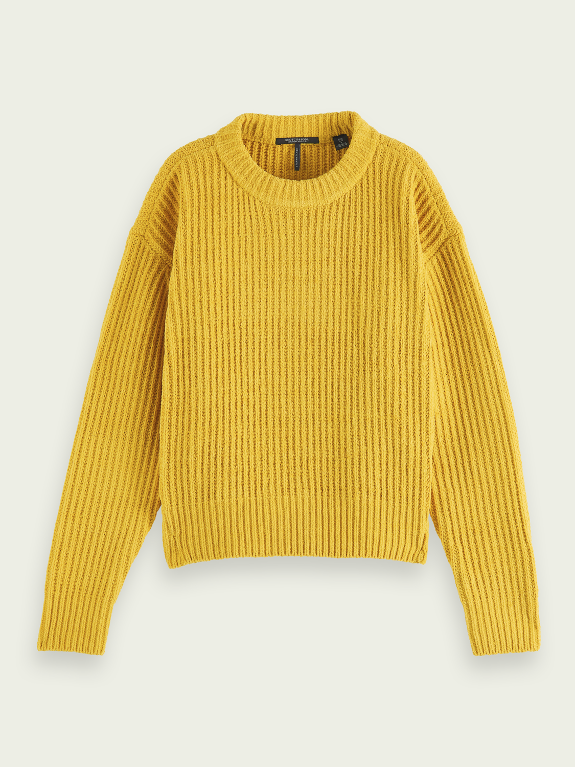 Women Chunky knit chenille pullover