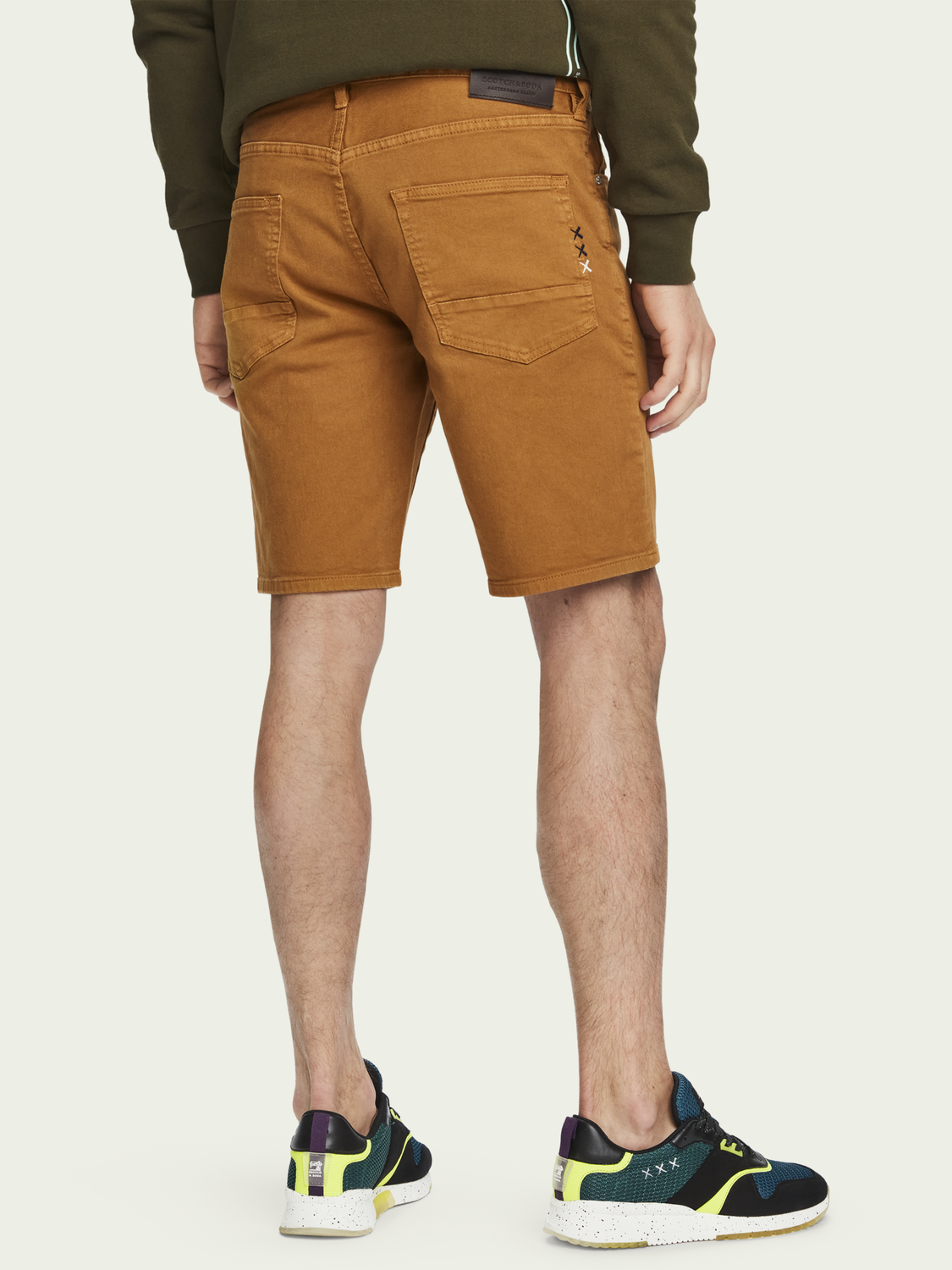 Heren Ralston Short – Tobacco | Slim fit