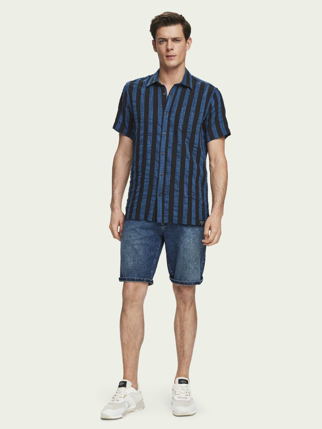 Heren Ralston Short - Blazing Sky | Slim fit