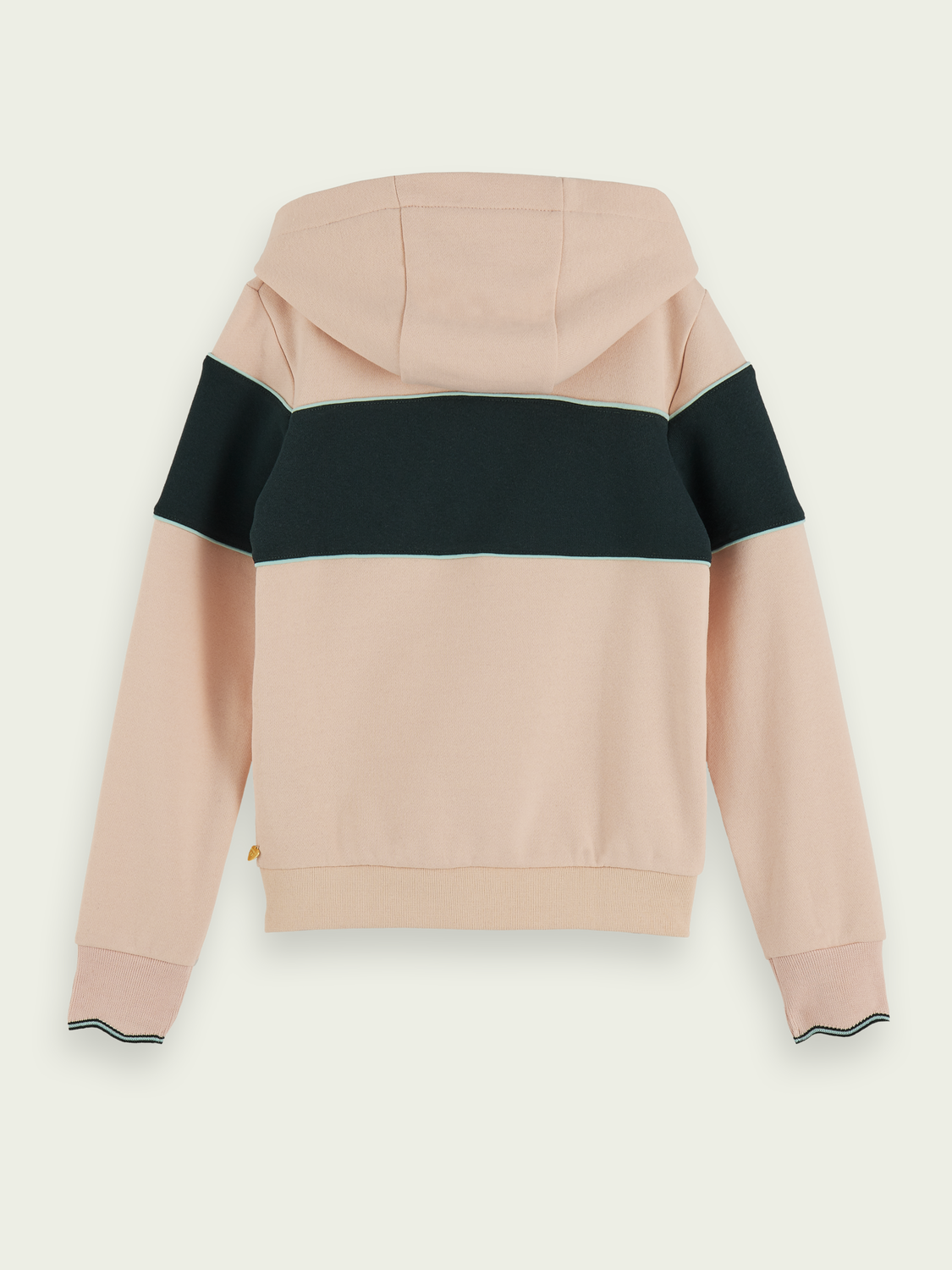 Kids Colour block zip up hoodie