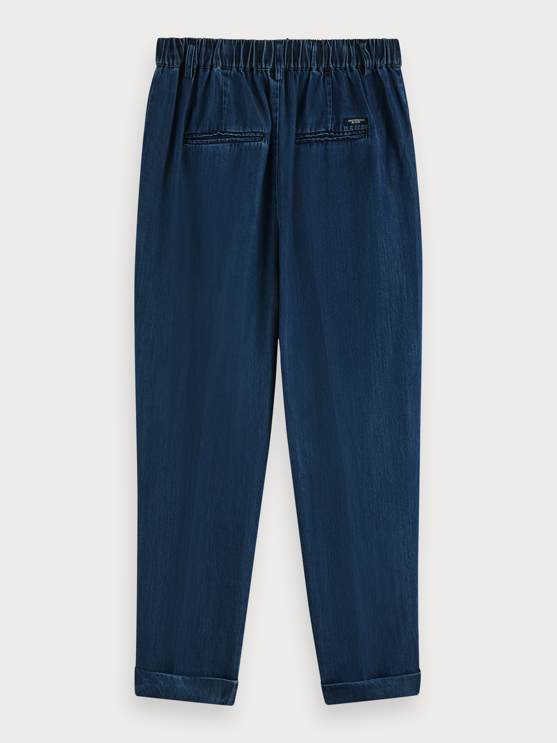 Damer Chinos i TENCEL™ med high-rise drapy fit