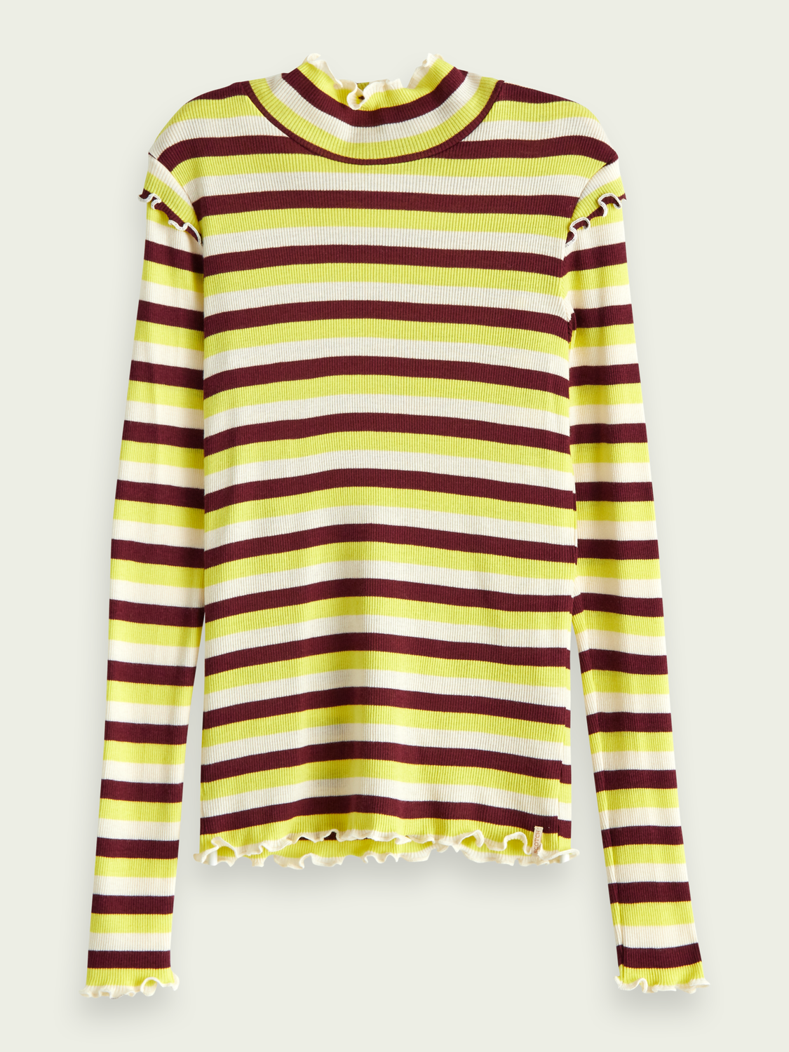 Girls Fitted long sleeve striped t-shirt