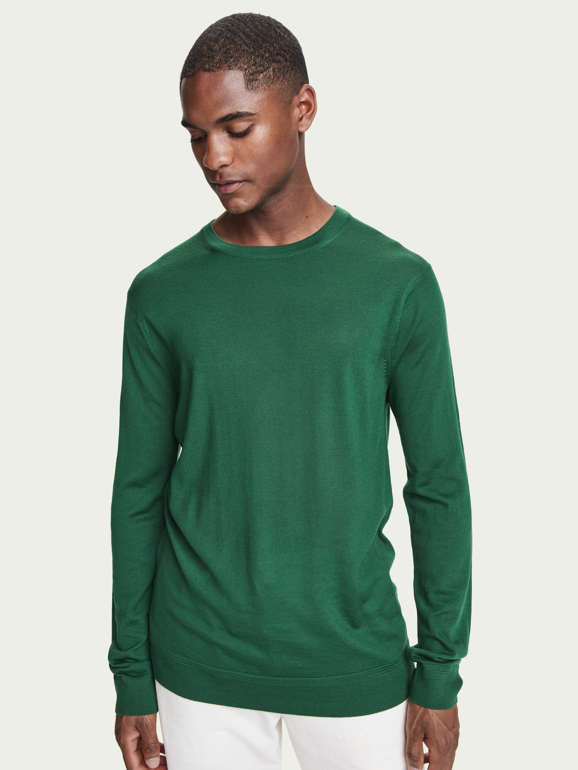Men Long sleeve Merino wool sweater