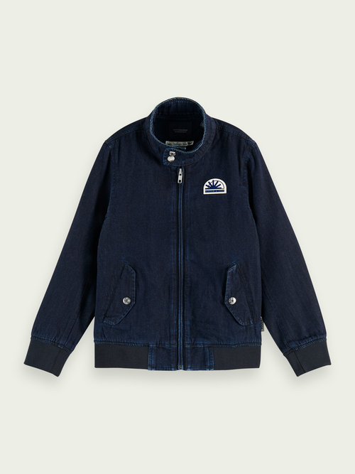 100% katoenen denim harringtonjack