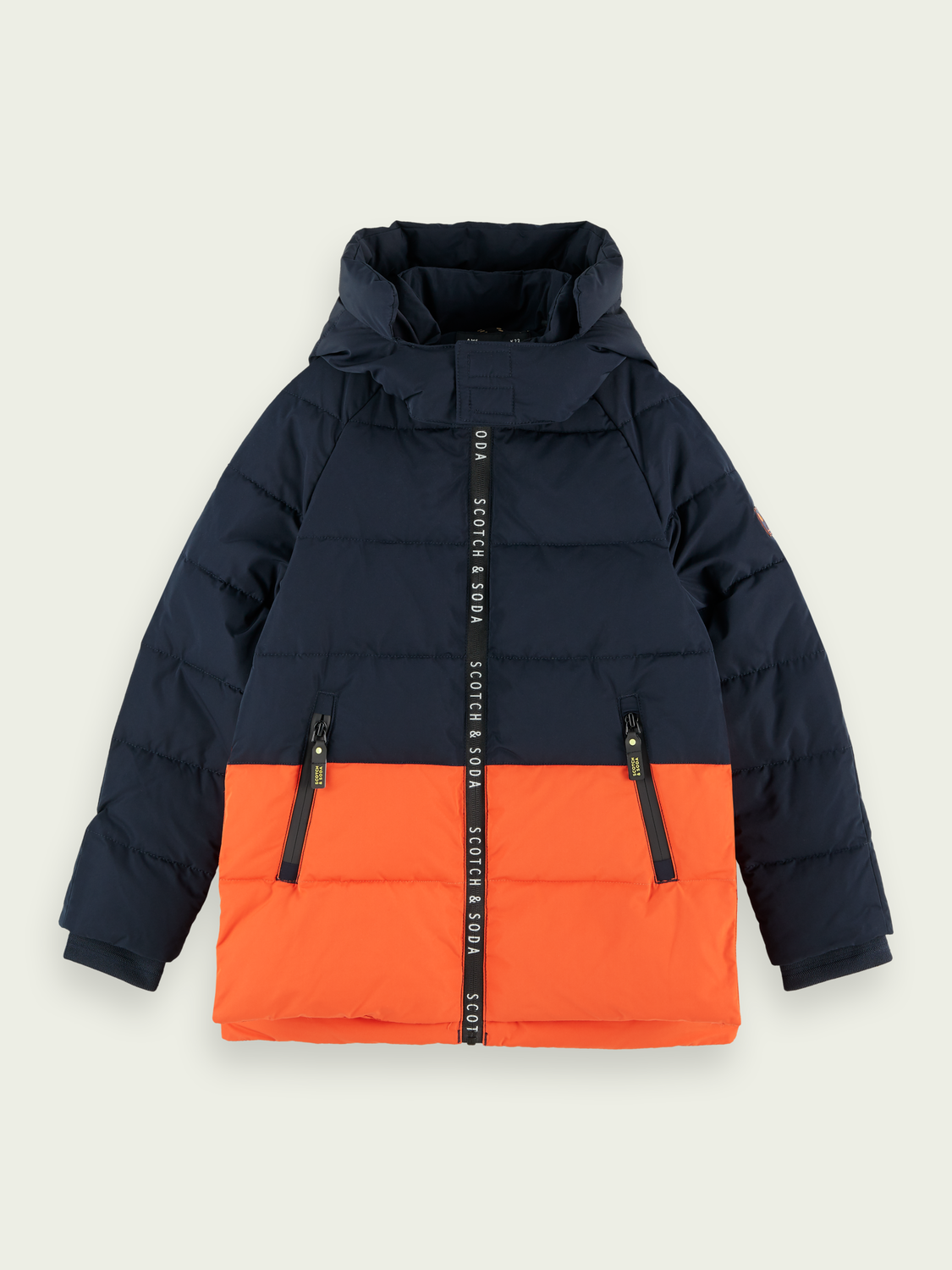 Boys Branded zip padded jacket
