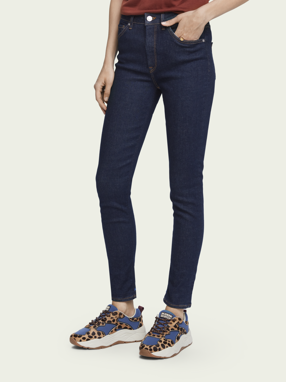 Women Haut - French Blue | High-rise skinny fit jeans