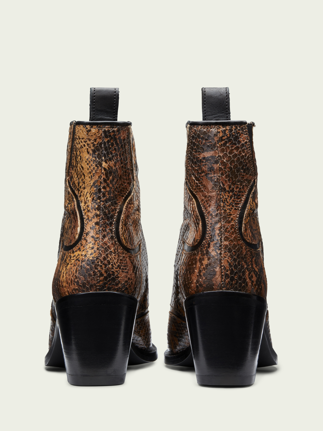 Women Abbey - snake-effect leather boots