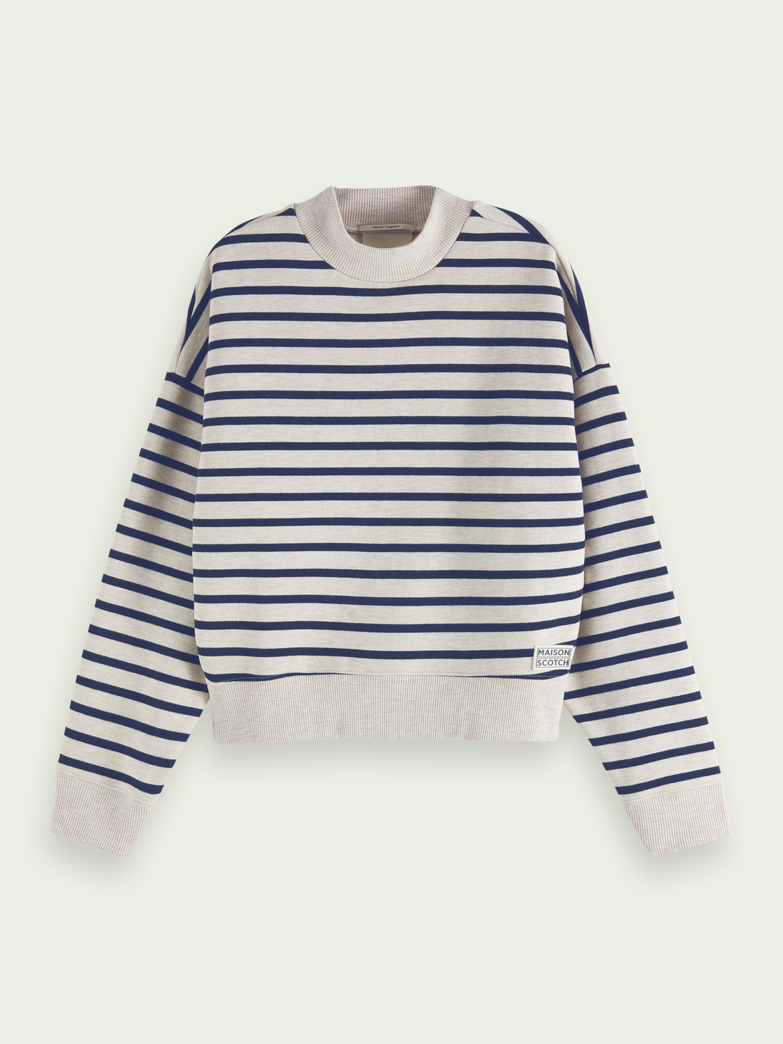 Women Oversized Breton stripe sweatshirt