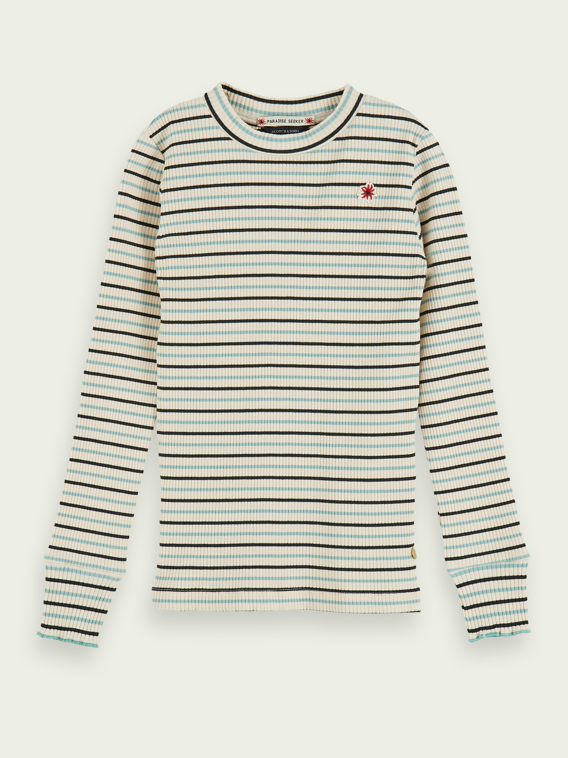 Kids Striped long sleeve rib knit t-shirt