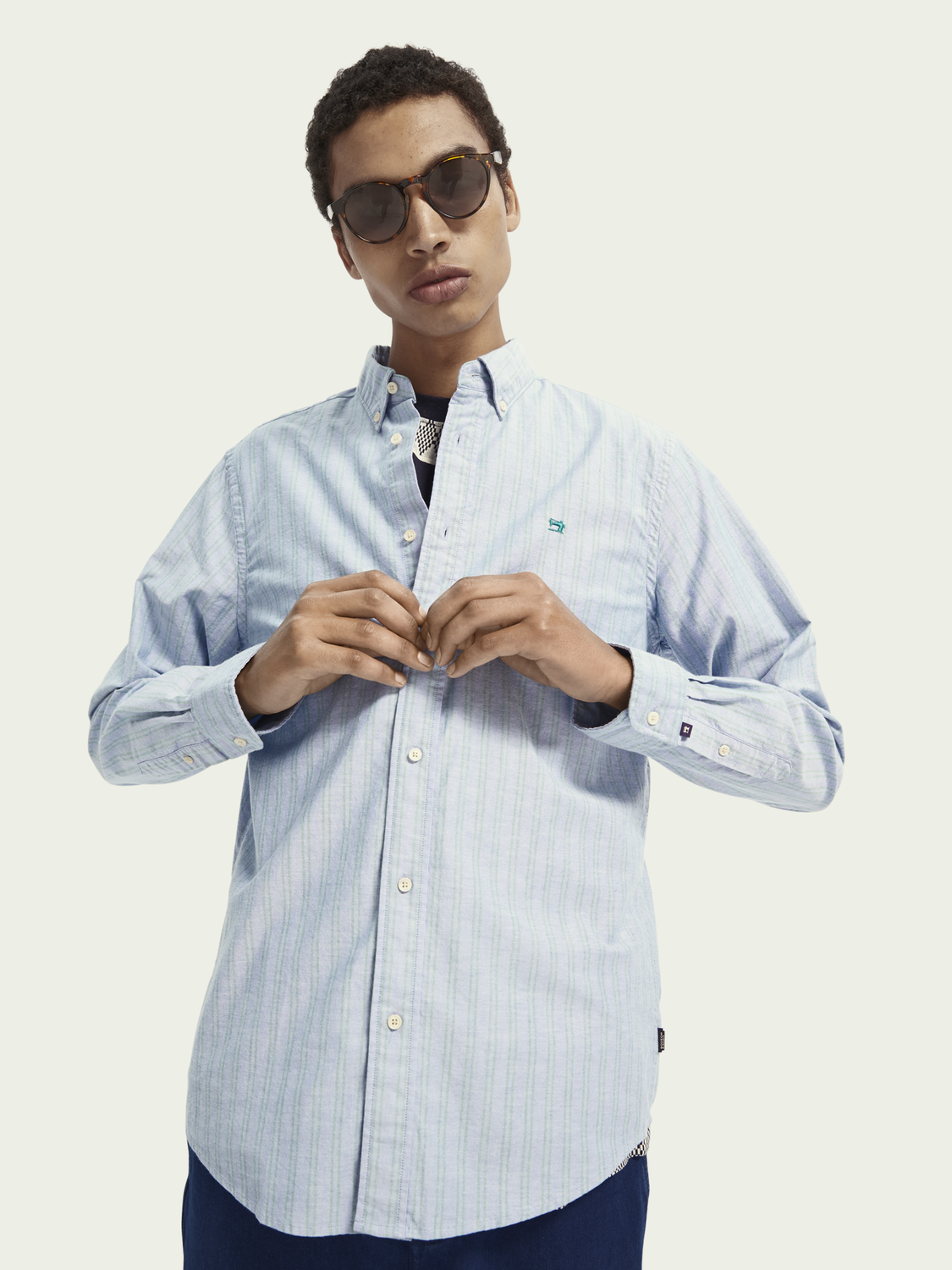 Men Regular fit oxford shirt