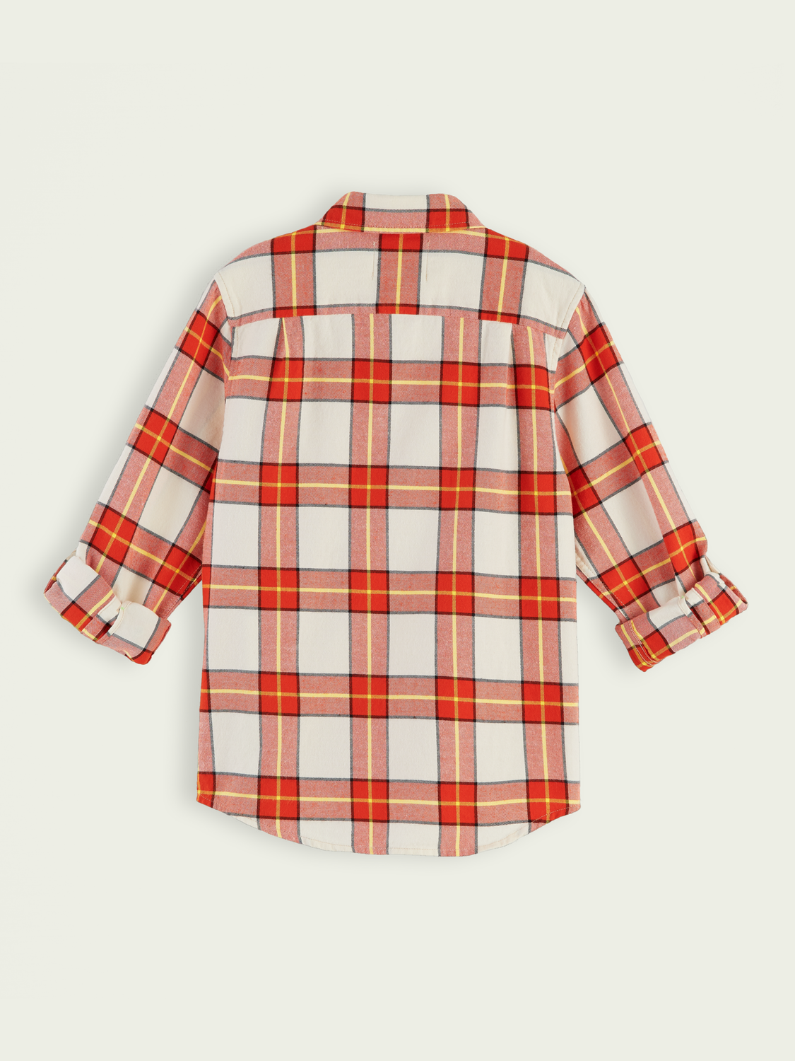 Kids Yarn-dyed long sleeve checked shirt