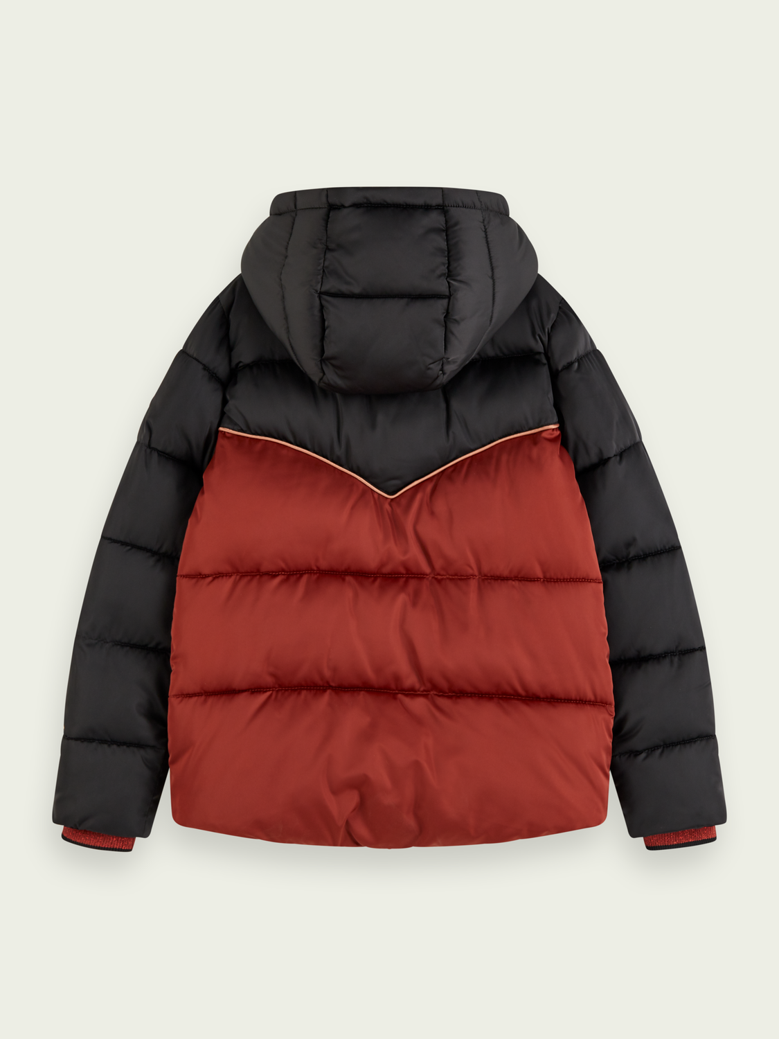 Kids Colour block padded puffer jacket