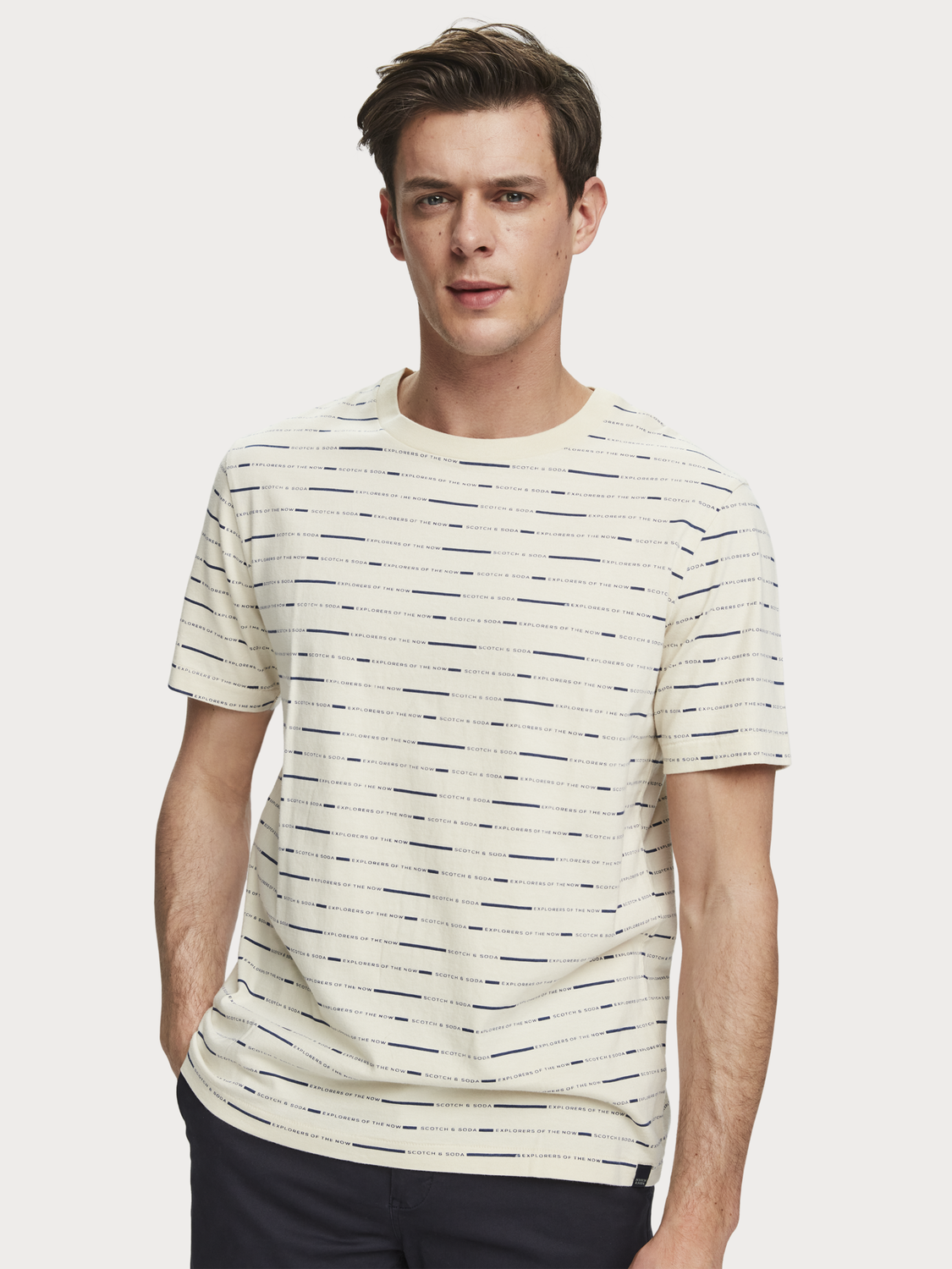Uomo All-over-print sustainable cotton short sleeve t-shirt