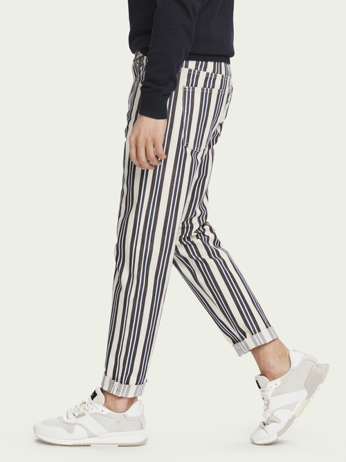 Scotch & Soda The Norm - Stripe Out   High-rise jeans