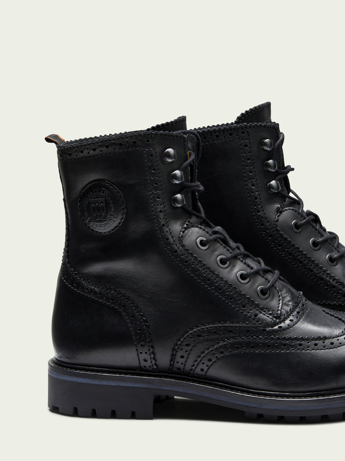 Men Natron - leather riding ankle boots