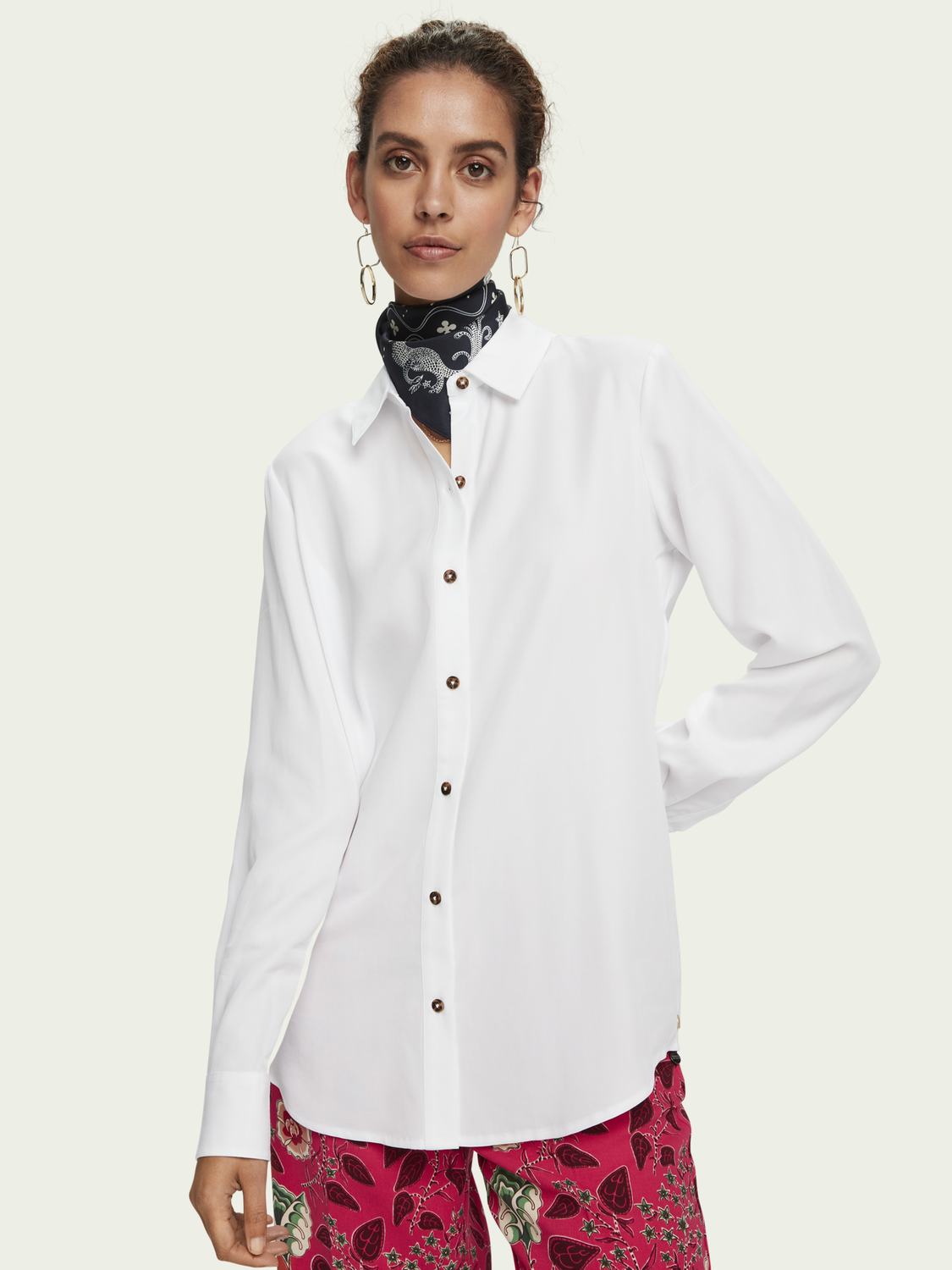 Women Drapey 100% TENCEL™ long sleeve shirt