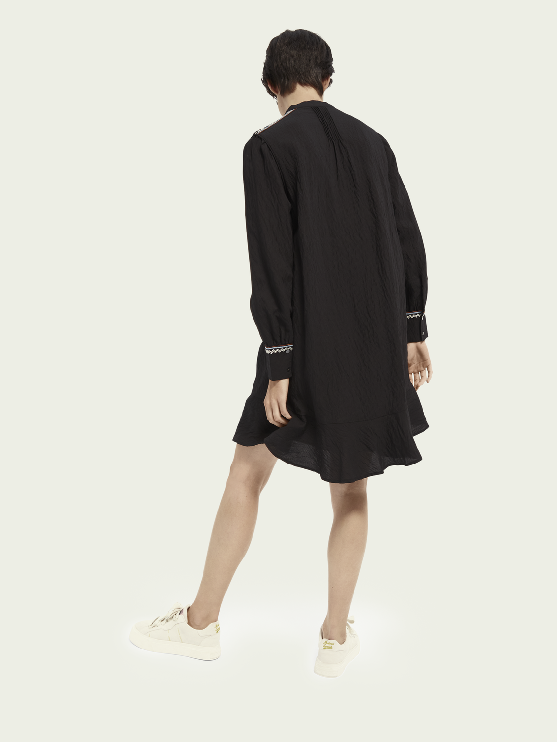 Women Long sleeve high-low dress