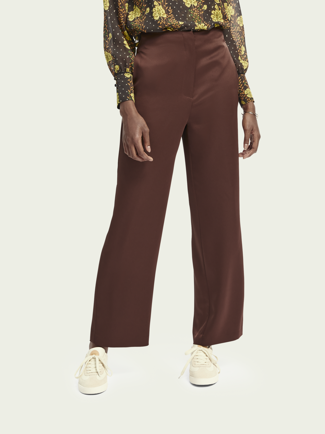 Women High-rise wide leg pants