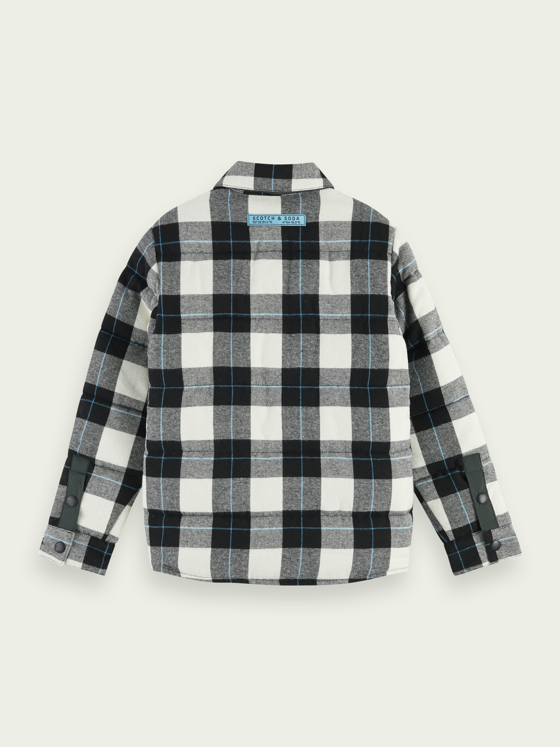 Kids Reversible checked shirt jacket