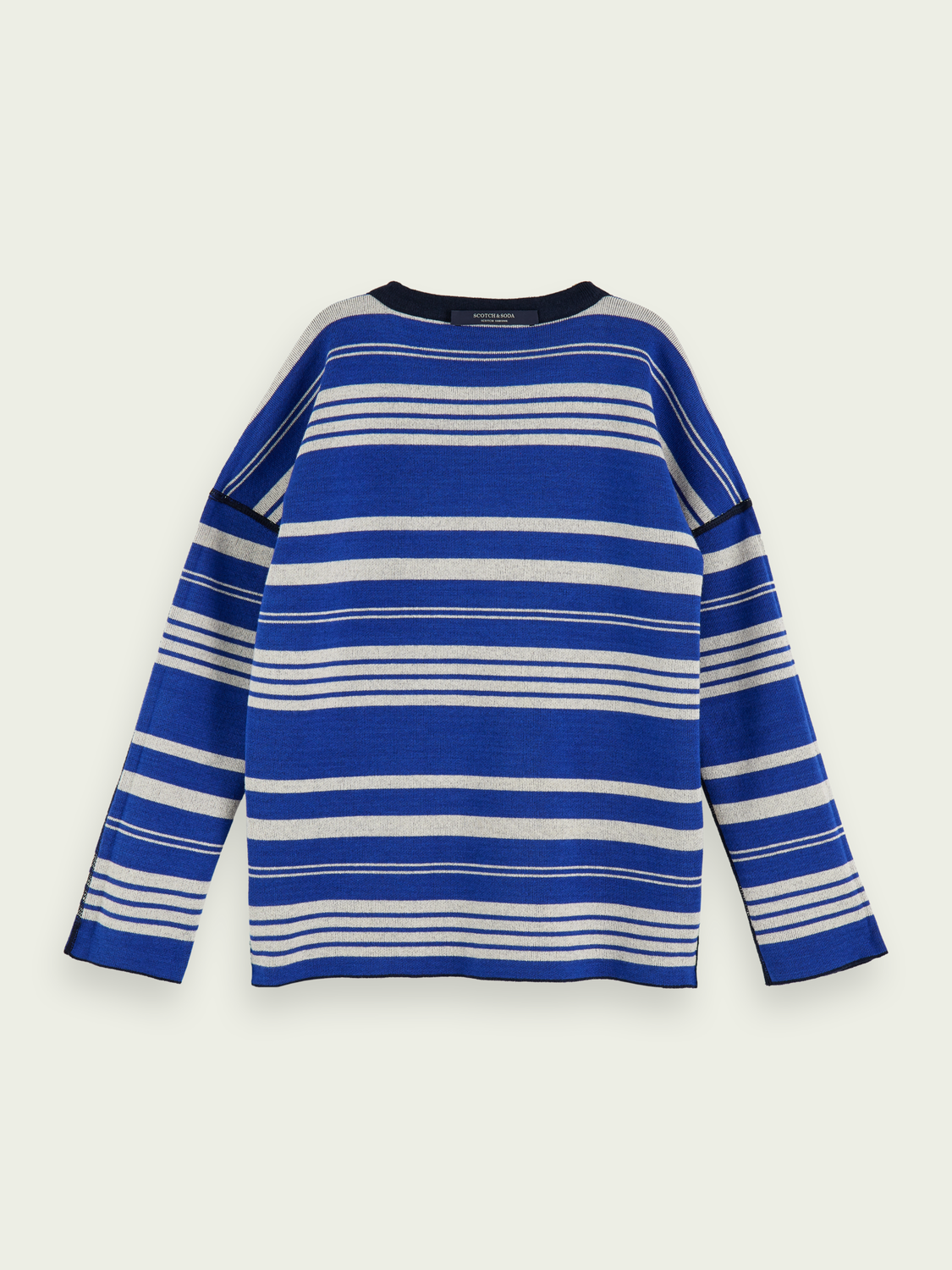 Kids Cotton-blend long sleeve reversible pullover