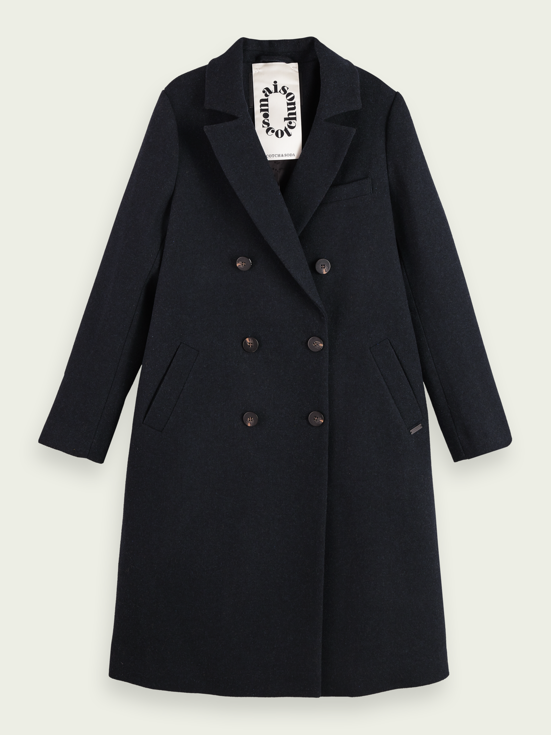 Dames Wool-blend double breasted tailored coat