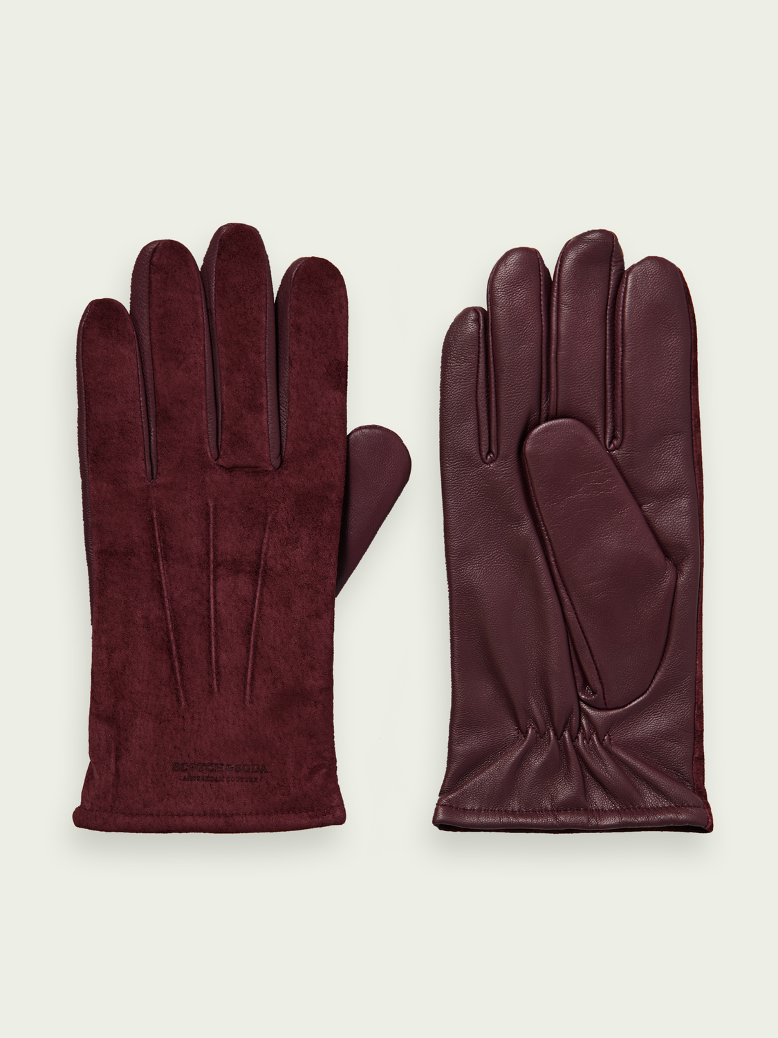 Men Leather and suede gloves