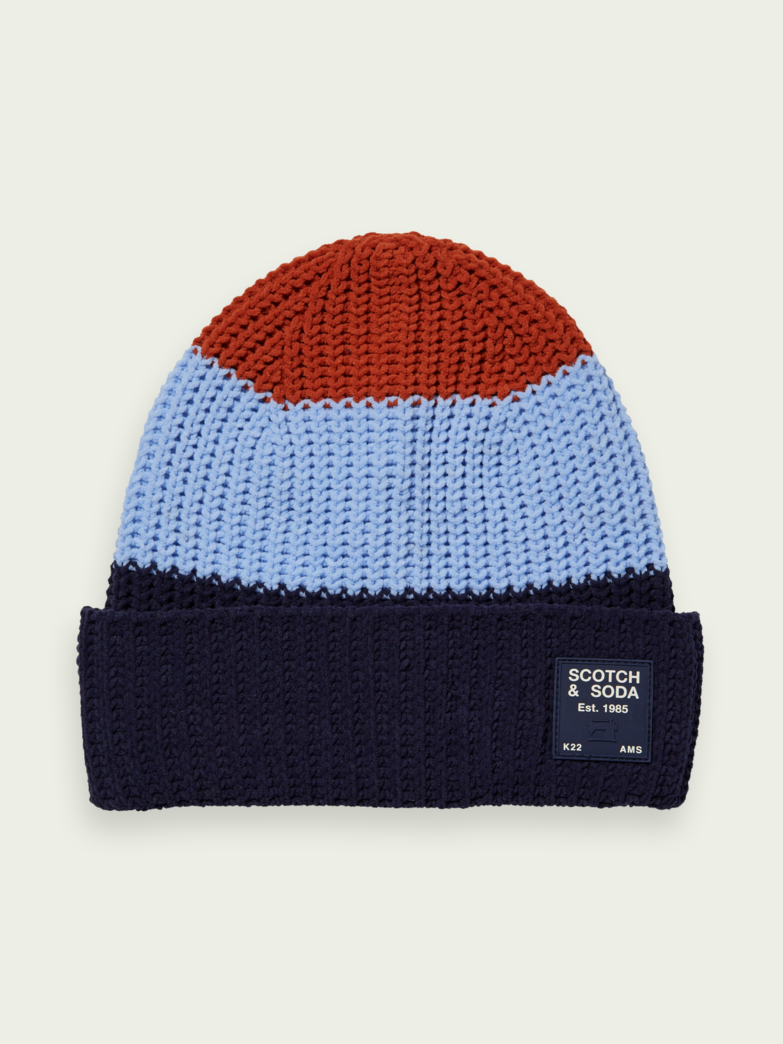 Kids Colour block knitted beanie