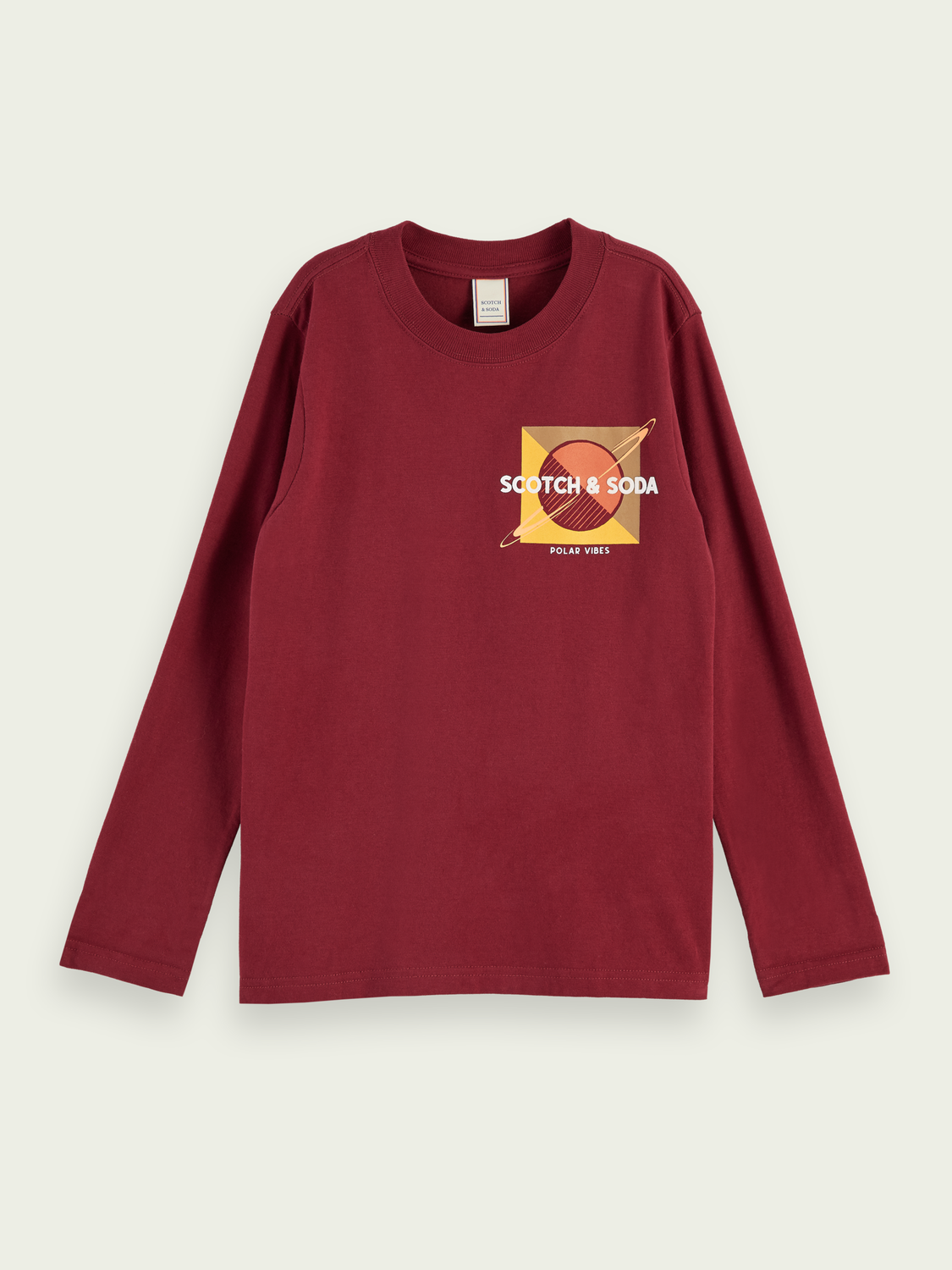 Kids Long sleeve brushed cotton artwork t-shirt