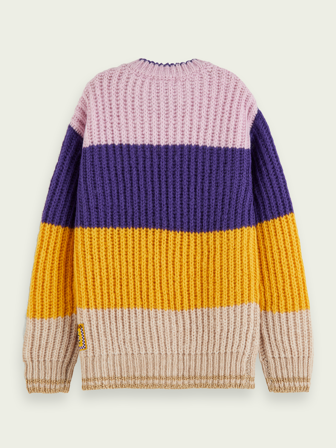 Kids Wool blend colour block pullover