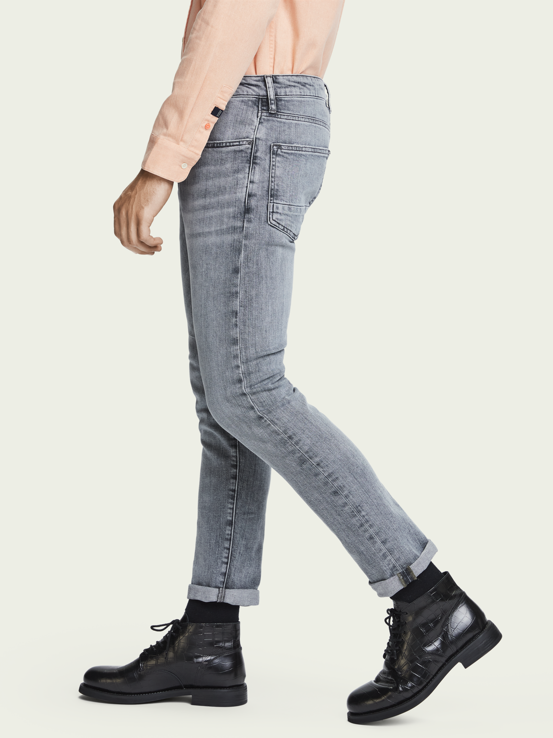Heren Ralston - Clock on Light | Regular slim fit jeans van biologisch katoen