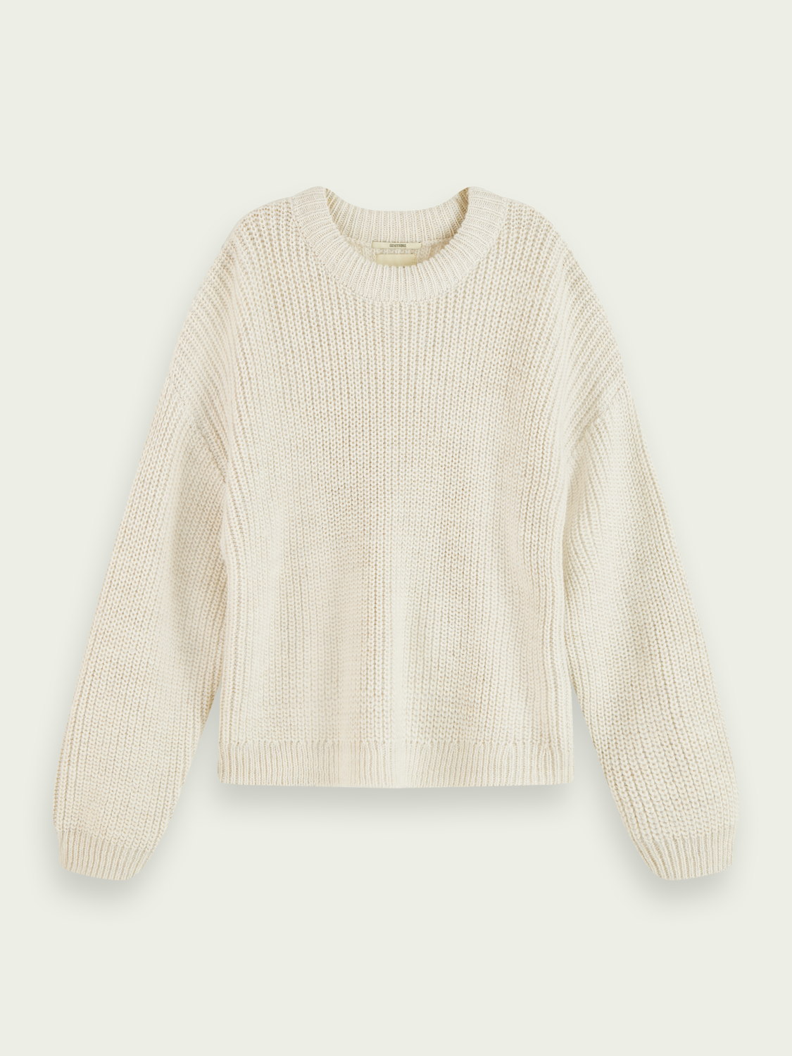 Women Rib knit wool-Alpaca blend pullover